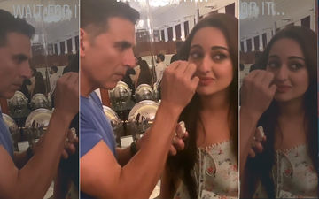 Akshay Kumar Is A Low-Budget Make-up Artist For Sonakshi Sinha During Mission Mangal Promotions; The Video Is Worth A Watch