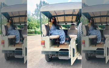 Kangana Ranaut Takes On Work With Leisure; Actress Goes For A Safari Ride In Jaipur