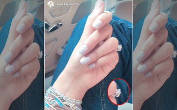 Mira Rajput Meant To Flaunt Her Well Painted Nails On Social Media, But The Big Rock On Her Finger Is Unmissable