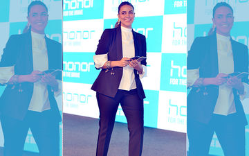 Amidst Pregnancy Rumours, Neha Dhupia Makes A Stylish Appearance In Monochrome Power Suit