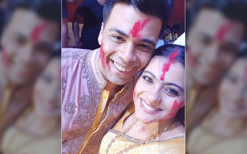 Karan Johar And Kajol's Sindoor Khela Pictures Are All Things Love; Vermilion Is Officially Our Favourite Colour Of The Week