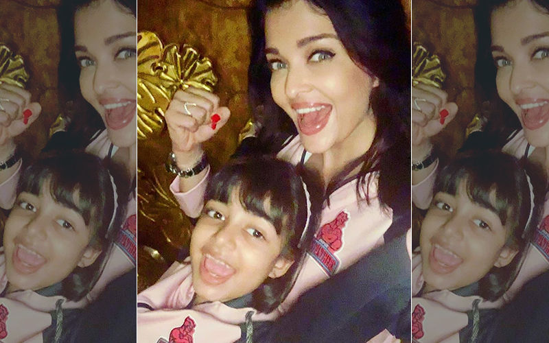 Aaradhya Bachchan Cheers For Daddy Dearest Abhishek Bachchan's Team Jaipur Pink Panthers; Aishwarya Rai Bachchan Shares A Picture