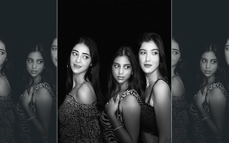 Suhana Khan, Ananya Panday And Shanaya Kapoor Pose As 'Charlie's Angels' For Shah Rukh Khan