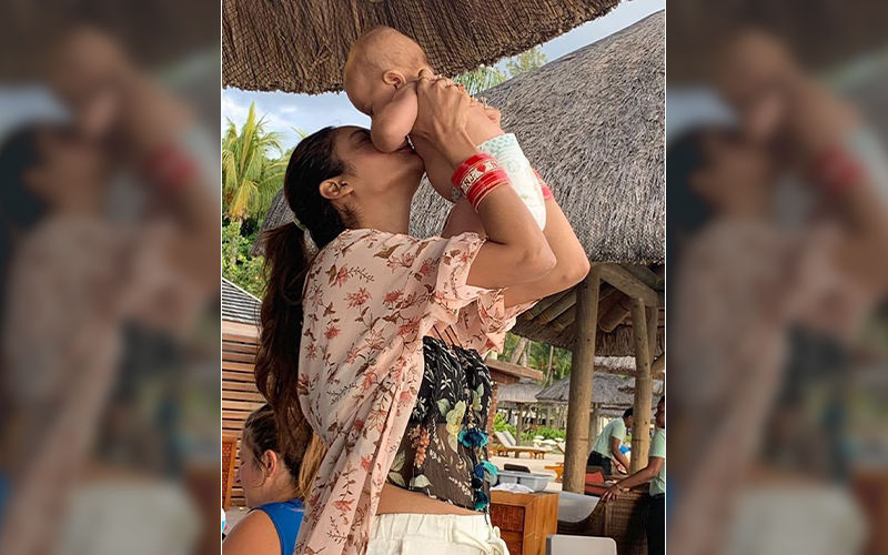 Nusrat Jahan Having Fun With Baby in Mauritius, See Pics Here