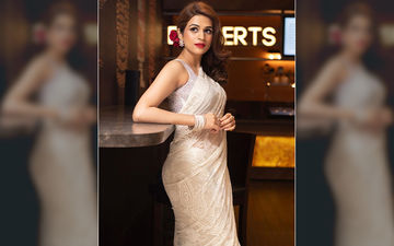 Actress Shraddha Das Looks Like A Vision In White Saree At Panther Screening