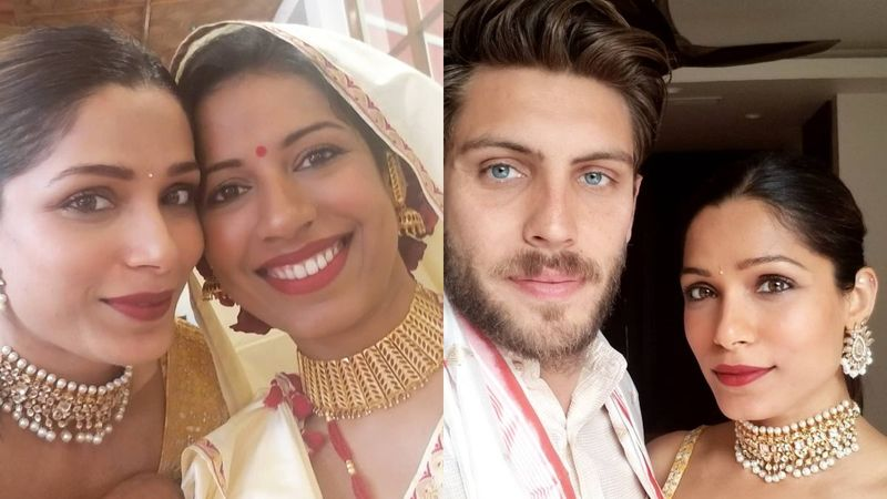 Freida Pinto's Sister Sharon Pinto Gets Hitched; Actress Graces The Celebrations With Fiancé Cory Tran – PICS