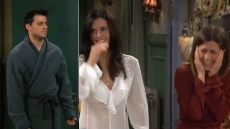 FRIENDS Blooper: When Joey Flashed Ross' Face On His Manhood In Front Of Everyone - Watch HILARIOUS BTS Video