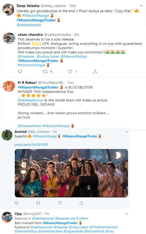 Mission Mangal Twitter Reaction: Tweeps Believe This Akshay
