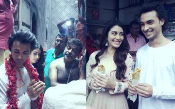 फिल्म लवरात्रि के प्रमोशन के लिए आयुष शर्मा और वारिना हुसैन पहुंचे कोलकाता, मशहूर काली मंदिर में लिया आशीर्वाद