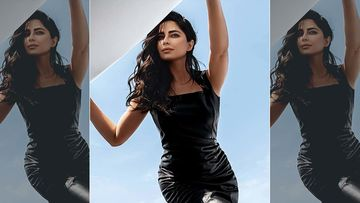 Covergirl Katrina Kaif's Black Leather Bodycon Dress Is The Stuff Dreams Are Made Of