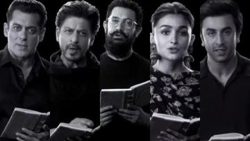 Salman Khan, Shah Rukh Khan, Aamir Khan Join Alia Bhatt-Ranbir Kapoor For Rajkumar Hirani's Tribute On Gandhi's 150th Anniversary - VIDEO