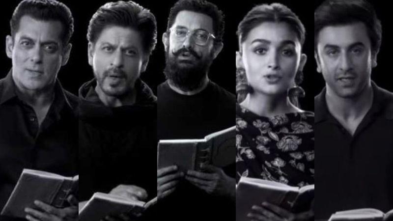 Salman Khan, Shah Rukh Khan, Aamir Khan Join Alia Bhatt-Ranbir Kapoor For Rajkumar Hirani's Tribute On Gandhi's 150th Anniversary - VIDEO