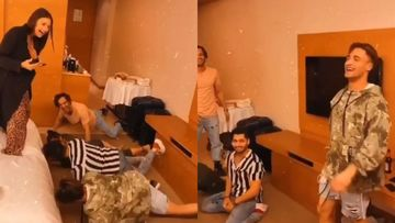 Bigg Boss 13: Asim Riaz, Rashami Desai, Umar Riaz Hilariously Pull Off The Garmi Hook-Step As Himanshi Khurana Cheers – VIDEO