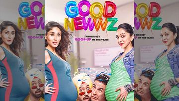 Good Newwz First Look Posters: Akshay Kumar-Diljit Dosanjh Getting Sandwiched Between Kareena And Kiara's Baby Bumps Is Too Hilarious To Miss