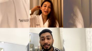 Bigg Boss 14: Gauahar Khan's Alleged Boyfriend Zaid Darbar Joins Her On Live Chat With Fans; Actress Warns Him To Not Share Any Deets