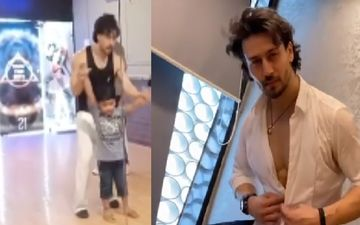 Tiger Shroff Tries To Teach Jay Jay Shiv Shankar Dance Steps To His Little Fan; Fails Miserably - WATCH