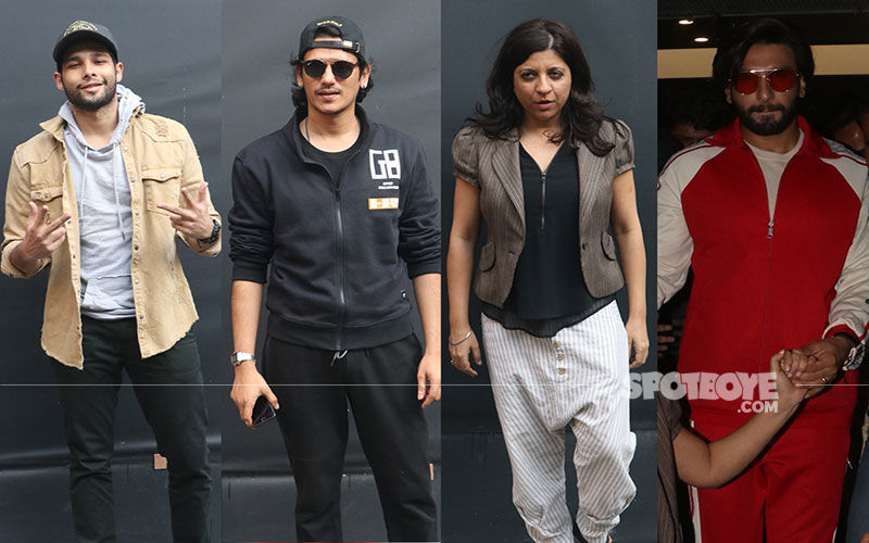 Gully Boy Gang- Ranveer Singh, Siddhant Chaturvedi, Vijay Varma Make A Surprise Theatre Visit And Have A Blast