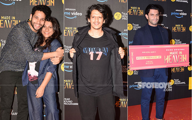 Gully Boy Actors Siddhant Chaturvedi Aka MC Sher And Vijay Varma Aka Moeen Attend Special Screening Of Zoya Akhtar's Made In Heaven