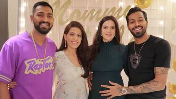 Hardik Pandya's Wife And Mom-To-Be Natasa Stankovic Flaunts Her Baby Bump In This UNSEEN Pic From Their Baby Shower