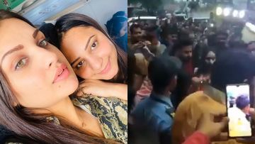 Bigg Boss 13: Himanshi Khurana Mobbed By A Sea Of Fans; Internet Hails Her Manager After She Jumps To Rescue Asim's GF