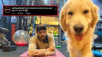 Coronavirus Outbreak: Hrithik Roshan's Gym PIC With His Dog Reminds Fans Of Krrish, 'Antidote Banwado Yaar Is Virus Ka'