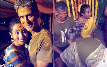 शादी से पहले देखिए मिलिंद सोमन और अंकिता कोंवर की हल्दी सेरेमनी