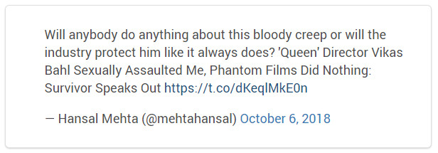 Hansal Mehta Tweet