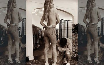Heidi Klum's Topless Picture Posing Just In Jeans And Heels Is Enough To Give Fans Sleepless Nights
