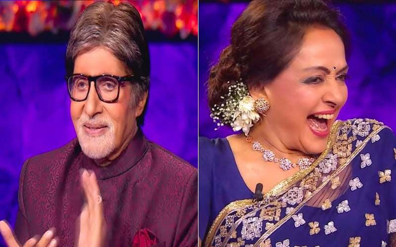 Kaun Banega Crorepati 13 Shaandaar Shukravaar: Amitabh Bachchan Recreates Sholay's Gabbar Singh's Iconic Dialogue 'Kitne Aadmi The', Hema Malini Reacts -WATCH