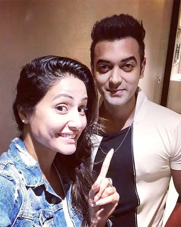 Hina Khan With Luv Tyagi