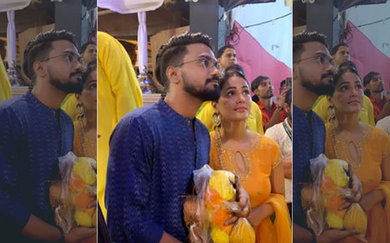 Ganeshotsav 2019: Hina Khan And Boyfriend Rocky Jaiswal Visit Lalbaugcha Raja To Seek Divine Blessings