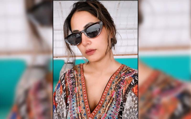 Hina Khan Enjoys The Ocean Breeze As She Sizzles In A Blue Swimsuit And Flaunts Her Beach Body; PICS Inside