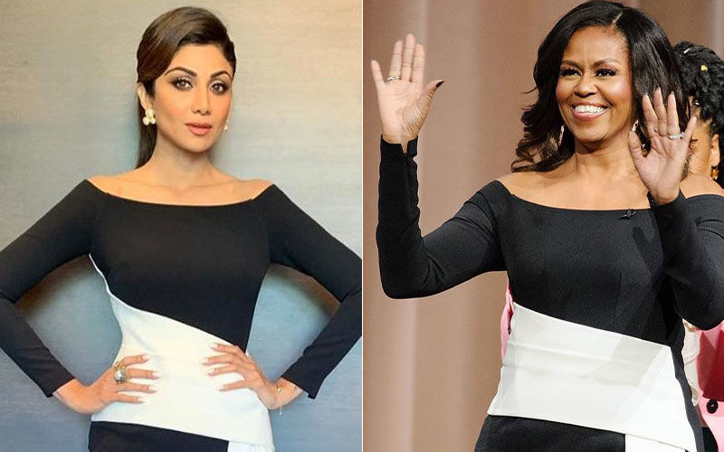 Hold Your Breath...Shilpa Shetty And Michelle Obama Are Shirt Twins