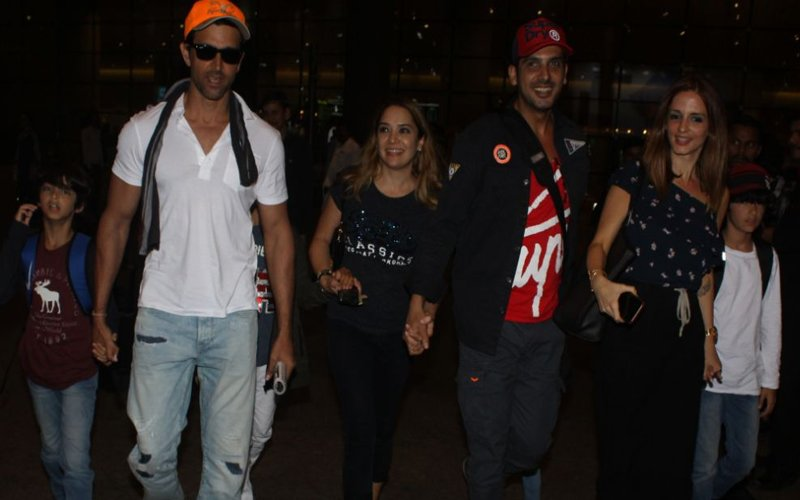 Pics: Hrithik Roshan & Ex-Wife Sussanne Khan Back In Mumbai After Vacationing In Goa
