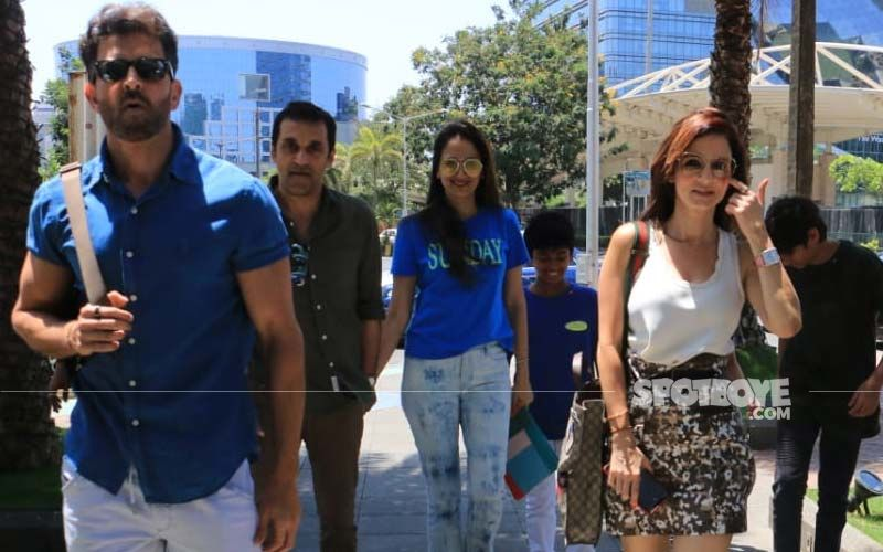 Hrithik Roshan And Sussanne Khan Enjoy Sunday Lunch With Kids At A Restaurant