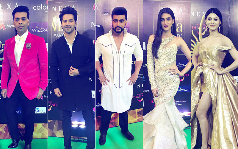 IIFA Rocks: Karan Johar, Varun Dhawan, Arjun Kapoor, Bobby Deol, Kriti Sanon, Iulia Vantur, Urvashi Rautela, Walk The Green Carpet