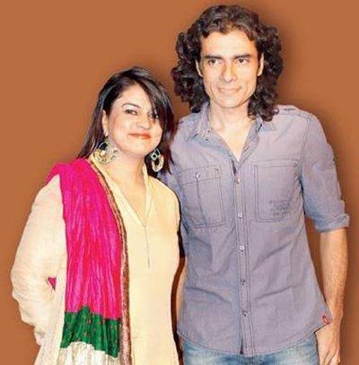 Imtiaz Ali with his ex wife Preety Ali