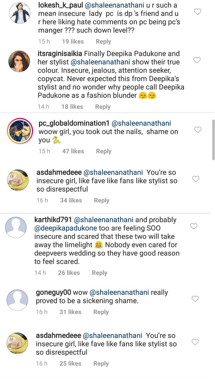 comments on shaleena