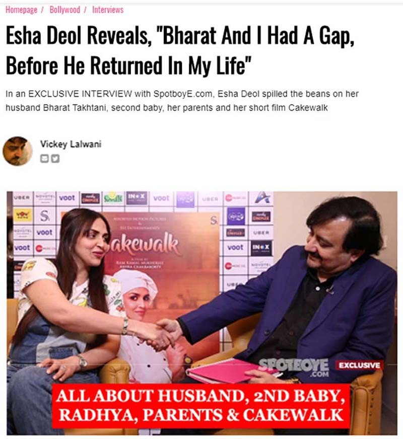 Esha Interview