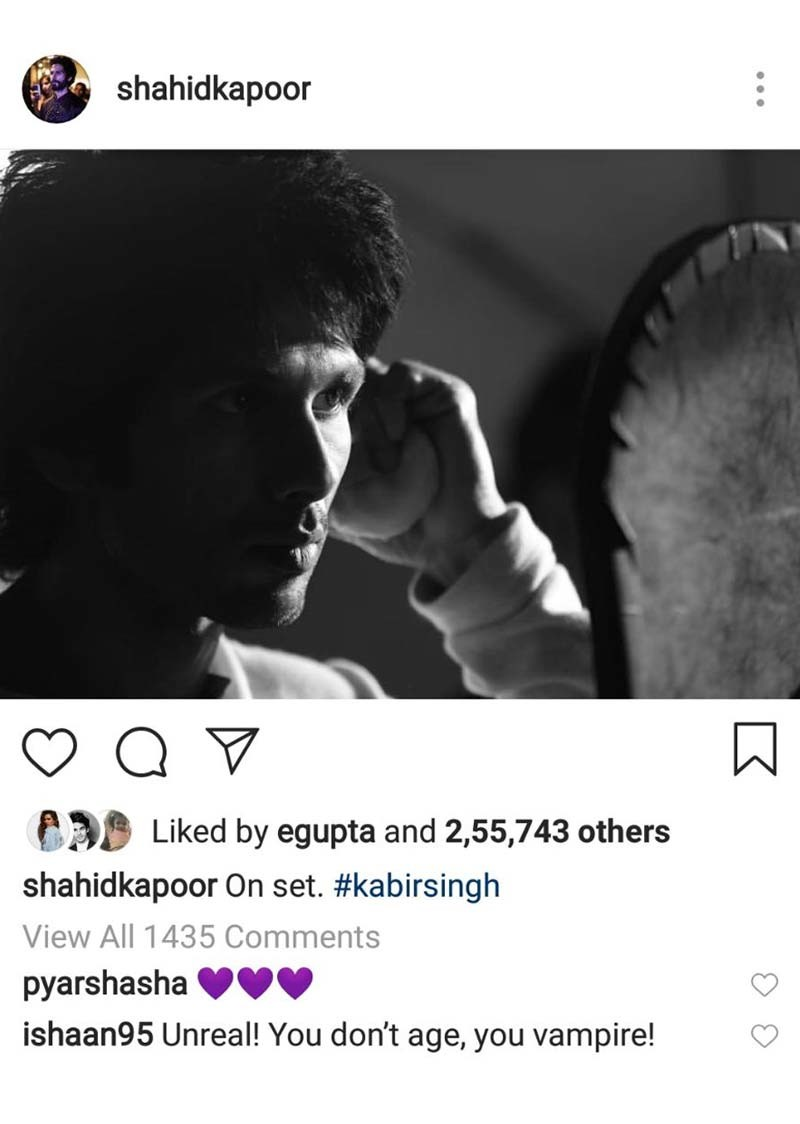 Ishan Khattar Comment On Shahid Kapoors Post