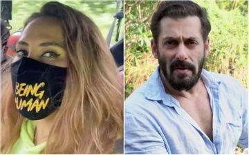 Salman Khan's Rumoured Girlfriend Iulia Vantur Flaunts The Actor's Clothing Brand Masks; Says: 'I Love This Being Human' – Video