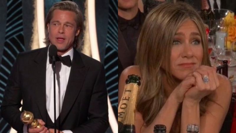 Golden Globes 2020 Brad Pitt Jokes About His Dating Life Ex Wife Jennifer Aniston S Reaction Is Priceless Video