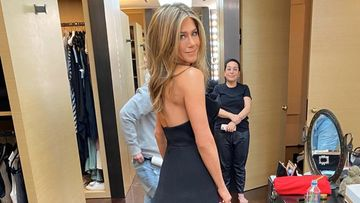 Jennifer Aniston Burns It Up In A Black Braless Dress With Thigh-High Slits; We Can't Take Our Eyes Off Her - PICS