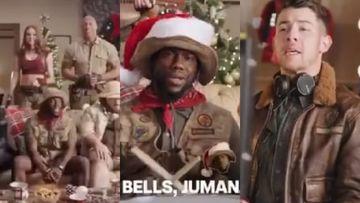 Jumanji: Dwanta Clause And His Angels Sing Unique Christmas Carol; Nick Jonas Joins, Kevin Hart Disapproves