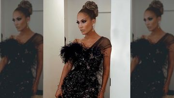 Hustlers Star Jennifer Lopez Stuns In A Smokey Black Feathered Dress As She Attends The Gotham Awards – PICS