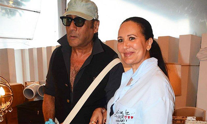 jackie shroff with wife ayesha shroff