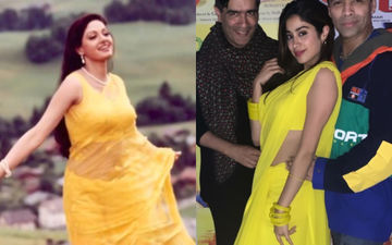 Janhvi Kapoor Takes Inspiration From Mom Sridevi, Channels Her Inner Chandni For A 90s Theme Party