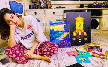 Janhvi Kapoor Becomes A Painter In Self-Isolation; Shares A Glimpse Of Her Stunning Art Work  - See Pic