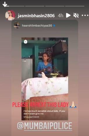 Jasmin Bhasin s Instagram stories