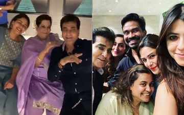 Ekta Kapoor Celebrates Papa Jeetendra's Birthday; Krystle D'souza, Mona Singh, Anita Hassanandani Attend The Bash - Watch Inside Videos
